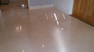 Limestone Floor After Cleaning And Polishing