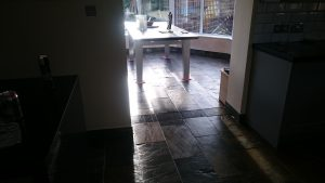 Slate Floor Cleaning in Bristol which has been sealed
