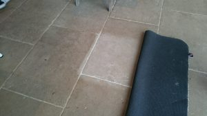 Test patch for Limestone Floor Cleaning