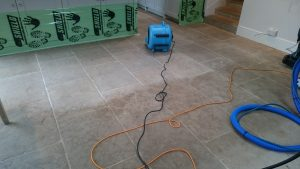 Limestone Floor Cleaning, air drying the floor