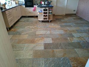Slate floor cleaning