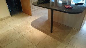 Marble floor before clean & polish