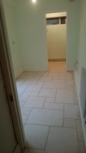 Limestone Floor Corridor Cleaned and Sealed