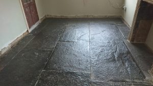 Topical seal applied to the Flagstone Floor