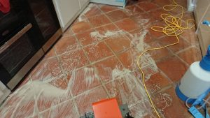 Cleaning a Terracotta floor