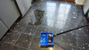 Composite Marble Floor applying the impregnating seal