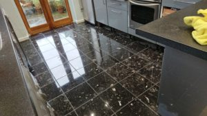 Composite Marble floor after final polishing