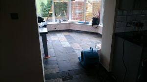Slate Floor Cleaning in Bristol which has been cleaned and is now drying